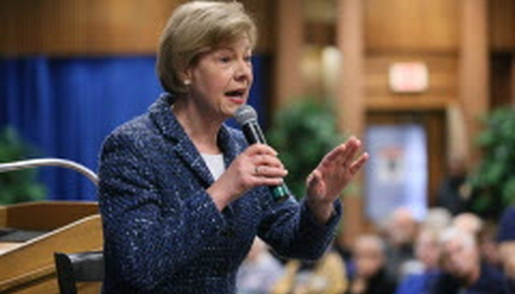 """U.S. Sen. Tammy Baldwin says the Trump administration """"has banned the CDC even using the word 'transgender.'"""""""