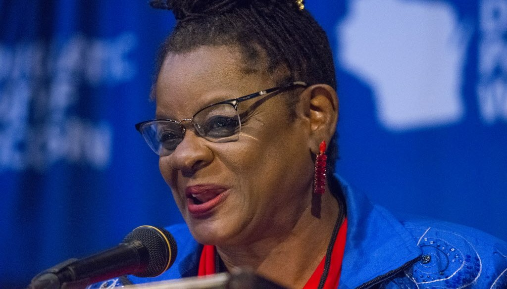 U.S. Rep. Gwen Moore, D-Milwaukee, criticized president-elect Donald Trump for his position on stop-and-frisk.