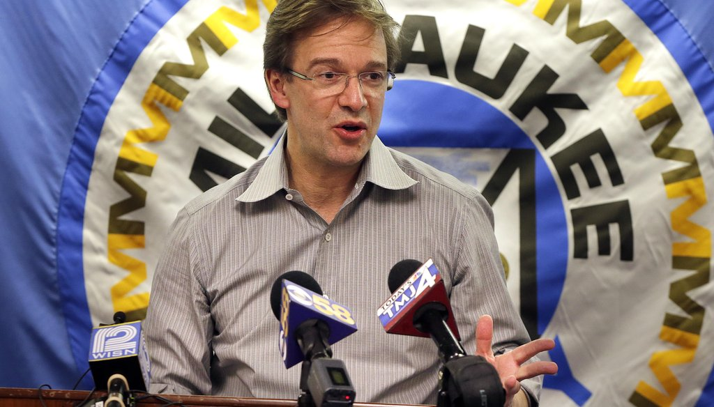 Milwaukee County Executive Chris Abele held a news conference about the future of the Mitchell Park Domes.