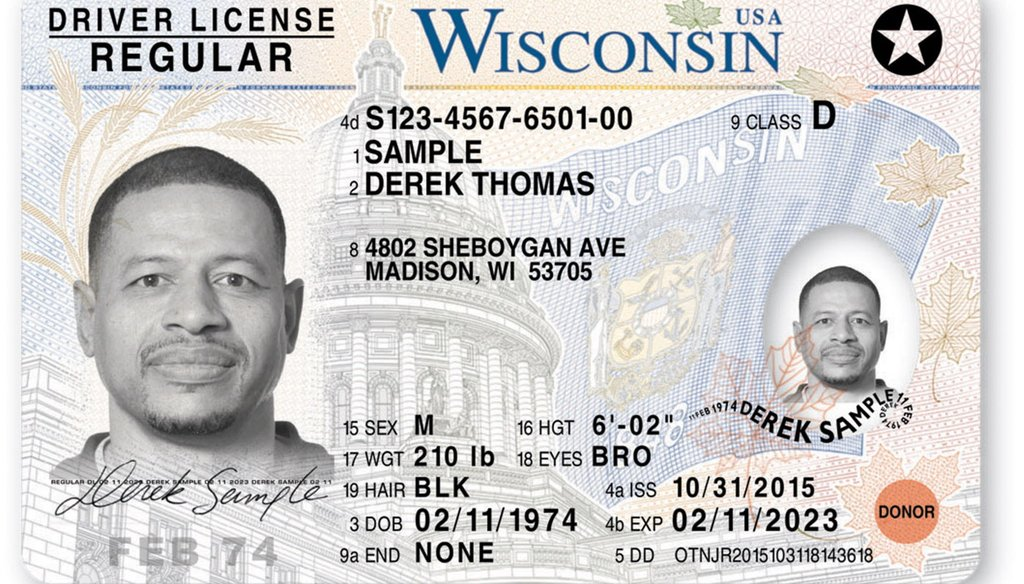 A sample Wisconsin driver license. (Milwaukee Journal Sentinel files)