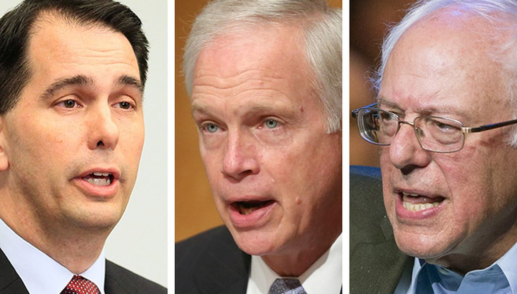 Statements by Scott Walker, Bernie Sanders and Ron Johnson were among the most popular in October.