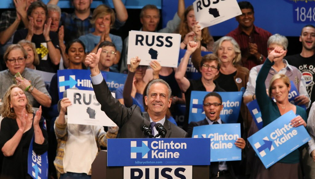 Democrat Russ Feingold falsely claims only his opponent, U.S. Sen. Ron Johnson, a Republican, is benefiting from spending by super PACs. (Michael Sears, Milwaukee Journal Sentinel)
