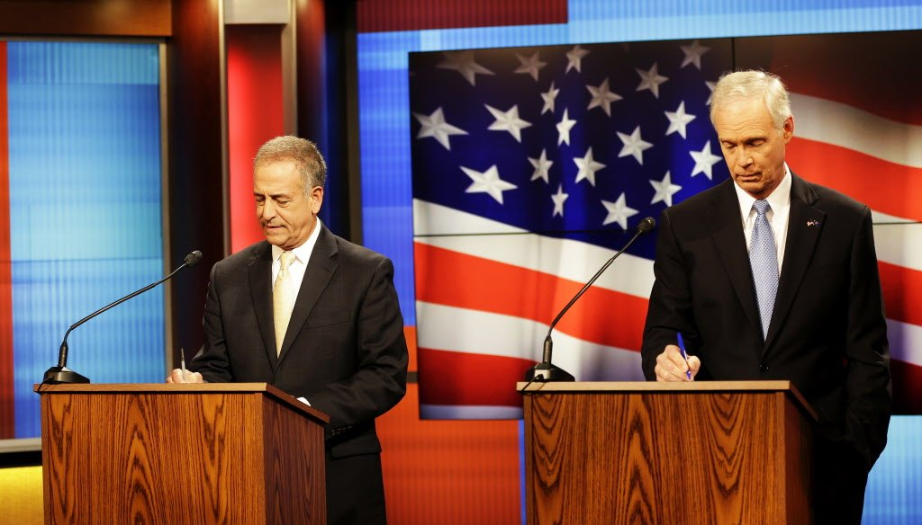 Democrat Russ Feingold, left, is facing Republican U.S. Sen. Ron Johnson in a rematch of their 2010 contest, in which Johnson ousted Feingold. (Sarah Kloepping, USA TODAY Network-Wisconsin)