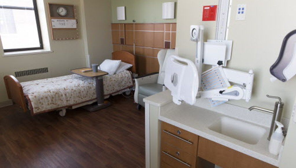 A patient room is shown on the hospice floor February 10, 2017 at the Tomah Veterans Affairs Medical Center in Tomah, Wis. (Mark Hoffman/Milwaukee Journal Sentinel).