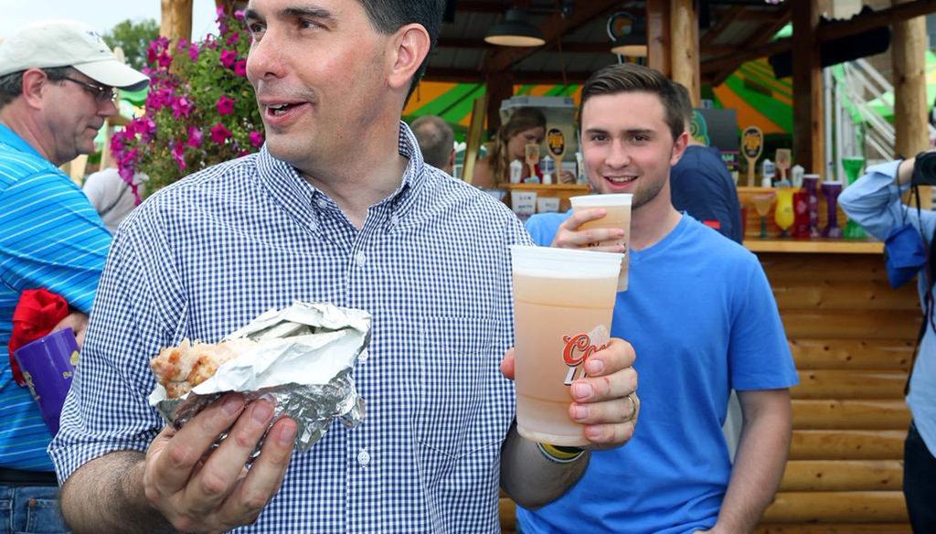 Scott Walker campaigns in Iowa in August 2015 (photo courtesy of Walker campaign)