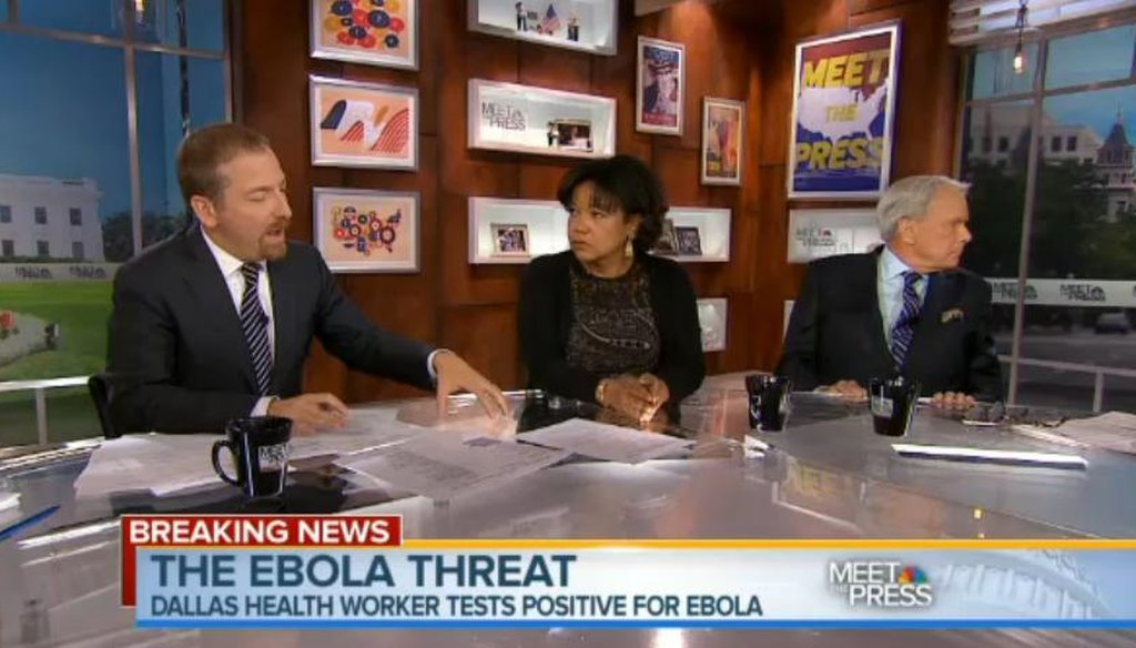 The Sunday shows discussed the possibility that Ebola could spread further in the United States.