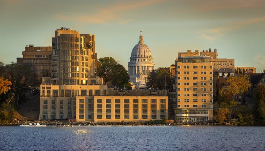 The economy in Madison, Wis., is buoyed by state government and the University of Wisconsin. (Bill Fritsch)