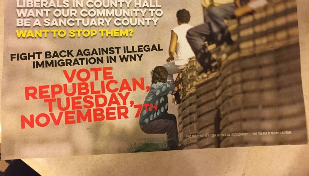 A mailer from the New York State Republican Committee claims Democrats in the Erie County Legislature want the county to be a sanctuary county.