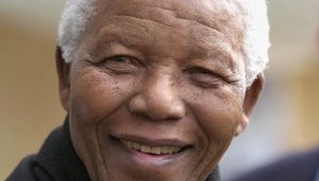 The late South African president Nelson Mandela, pictured at Oxford University in 2002.