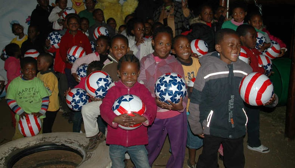 The Mapetla Day Care Centre in Soweto, Johannesburg, S.A., received PEPFAR funding to provide care and early education for over 100 orphans and vulnerable children. (USAID)