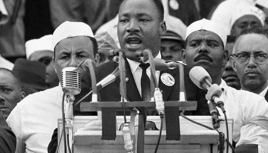 Martin Luther King Jr. had harsh words for both major political parties, experts say. (AP Photo)