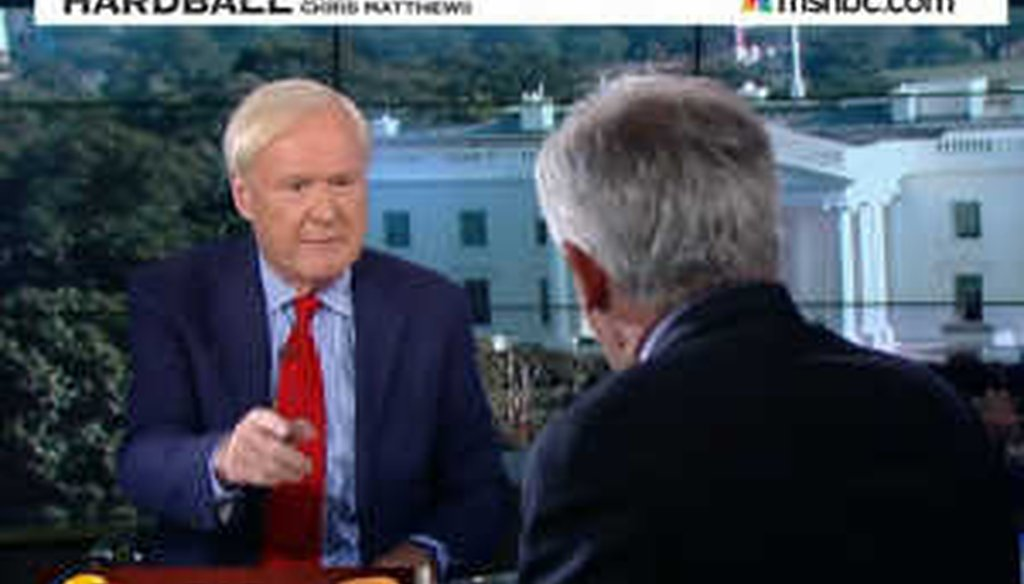 """MSNBC """"Hardball"""" host Chris Matthews argued that """"surprisingly,"""" the Wall Street Journal attacked inversions."""