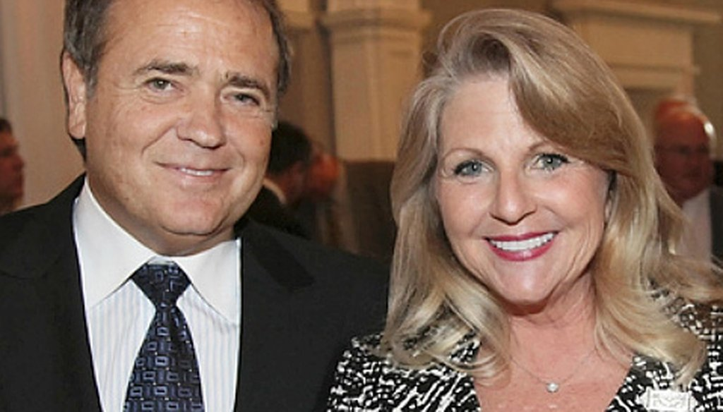 Businessman Jonnie Williams and Maureen McDonnell, Virginia's first lady, pose at a 2011 reception in the Executive Mansion. Williams has given more than $150,000 in gifts and loans to Gov. Bob McDonnell and his family.