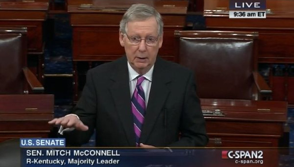 """Newly installed Senate Majority Leader Mitch McConnell, R-Ky., suggested that good economic news coincided with the """"expectation"""" of a GOP takeover of the Senate. Is that correct?"""