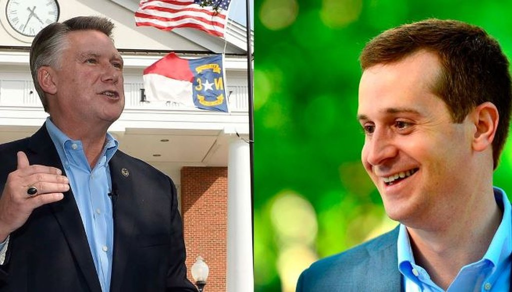 The N.C. elections board is investigating voting irregularities in the Congressional District 9 race between Mark Harris and Dan McCready. (Charlotte Observer photo)