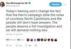 In NC, politicians mislead the public about the election fraud investigation