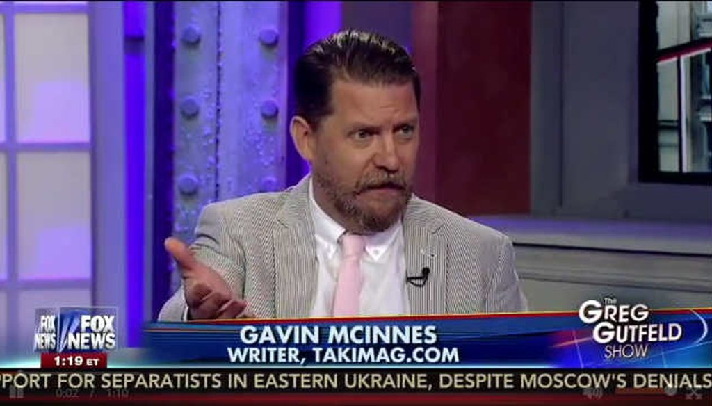 Conservative writer Gavin McInnes ties undocumented immigrants to half of Texas murders (screengrab)