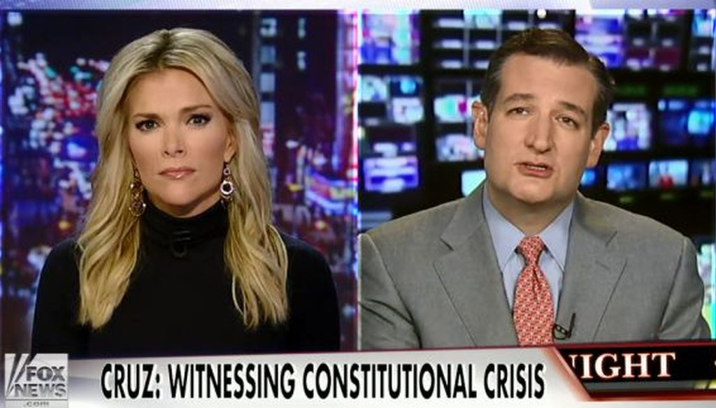 Sen. Ted Cruz, R-Texas, appeared on the Nov. 19, 2014, edition of Megyn Kelly's show on Fox News Channel. We checked one of Cruz's claims.