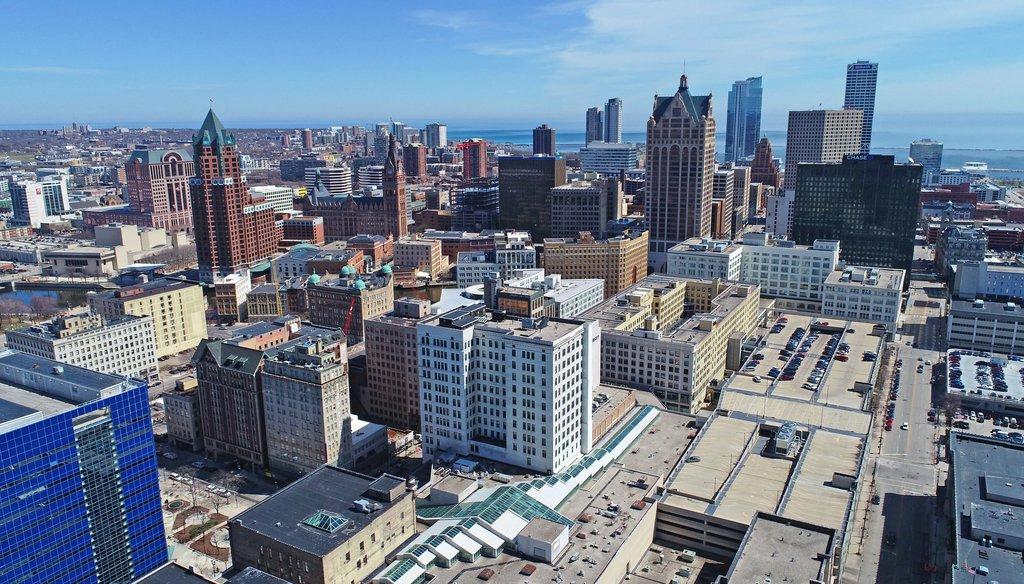 Milwaukee skyline. (Milwaukee Journal Sentinel.)