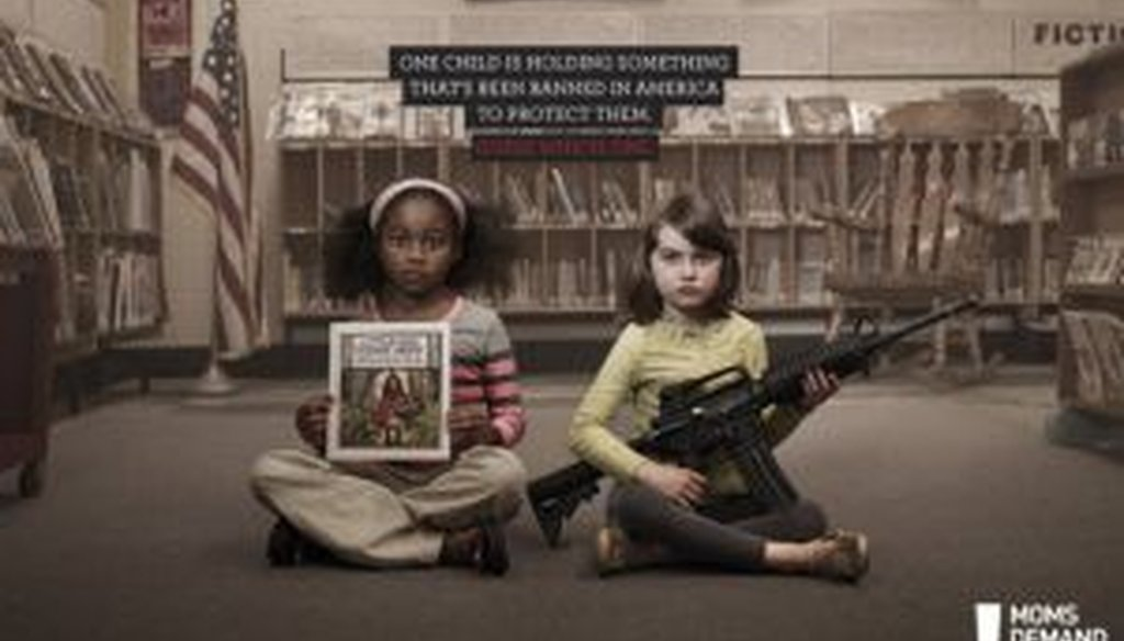 "Moms Demand Action for Gun Sense in America offered this comparison -- ""Little Red Riding Hood"" has been banned in the U.S., but not assault weapons. We look at whether it's a solid comparison."
