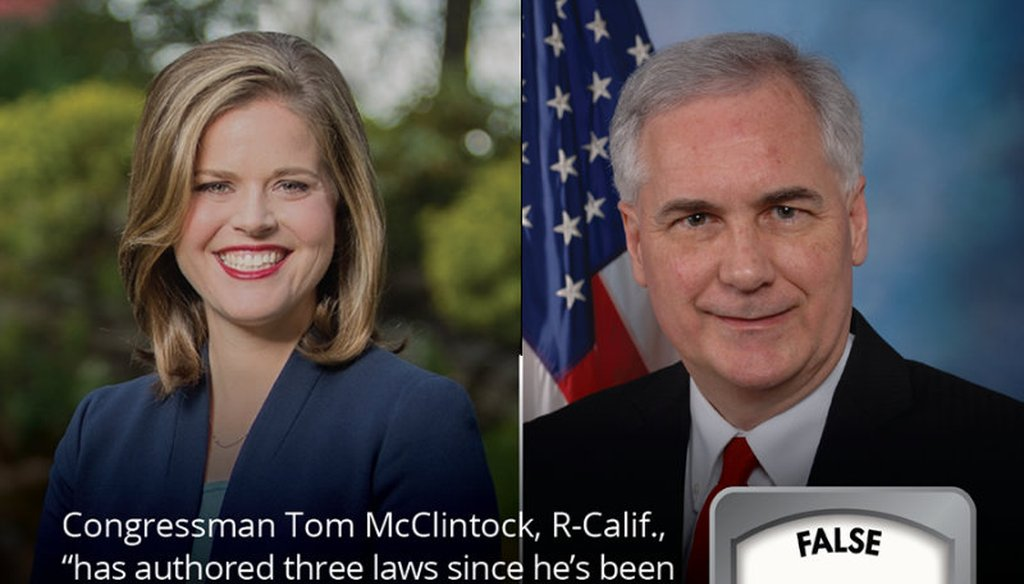 Democrat Jessica Morse is running against GOP Rep. Tom McClintock in California's 4th Congressional District east of Sacramento. Graphic by PolitiFact California
