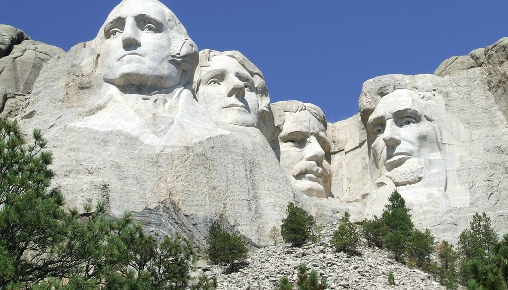 Mount Rushmore in South Dakota. Photo courtesy of National Parks Service.