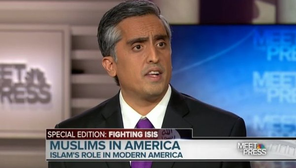 """Muslim author, attorney and commentator Arsalan Iftikhar participated in the """"Meet the Press"""" roundtable on Nov. 22, 2015."""
