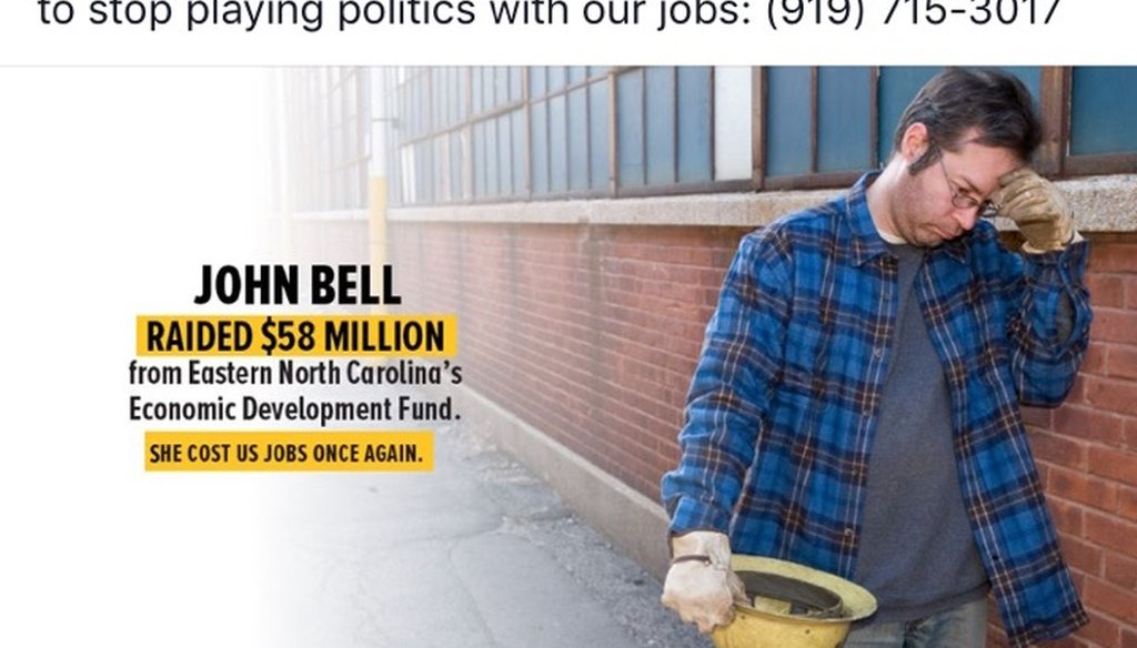 A screenshot of a digital ad created by the N.C. Democratic Party to target state Rep. John Bell.
