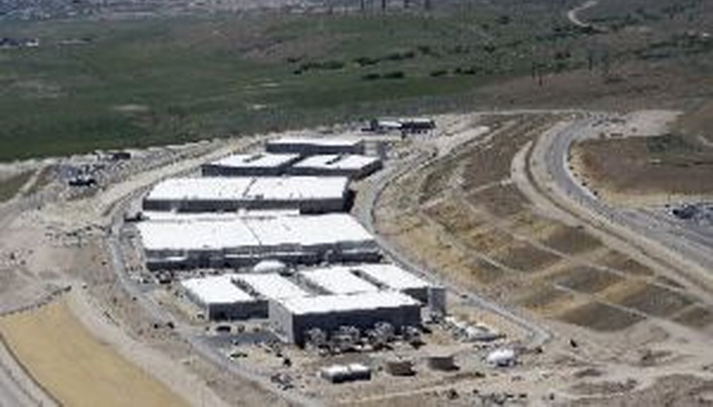 An aerial view of the National Security Agency's Utah Data Center in Bluffdale, Utah, which has come under scrutiny for its role in the collection of data on telephone and Internet traffic.