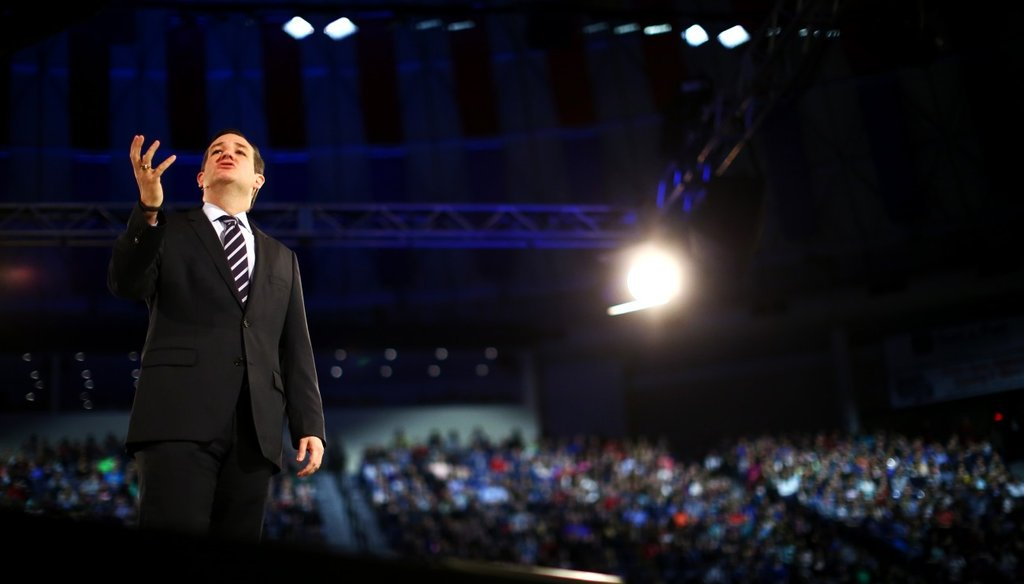 U.S. Sen. Ted Cruz, R-Texas,  announced his candidacy for the 2016 Republican presidential nomination at Liberty University in Lynchburg, Va., on March 23, 2015.