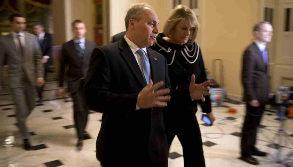 U.S. Rep. Steve Scalise, R-La.,  the No. 3 Republican in the House, heads to the floor for a budget vote, on Dec. 11, 2014. (New York Times photo)