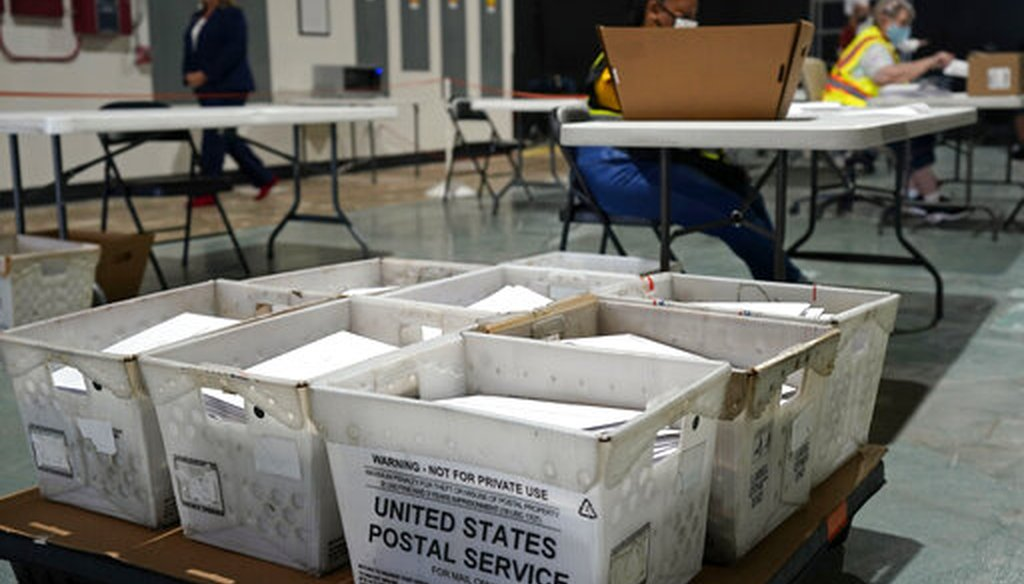 Workers prepare absentee ballots for mailing at the Wake County Board of Elections in Raleigh, N.C., Thursday, Sept. 3, 2020. (AP)