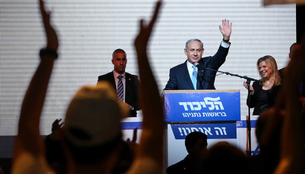 Israeli Prime Minister Benjamin Netanyahu defied expectations with a decisive victory that gave his Likud Party 30 seats in the 120-member parliament. (AP)