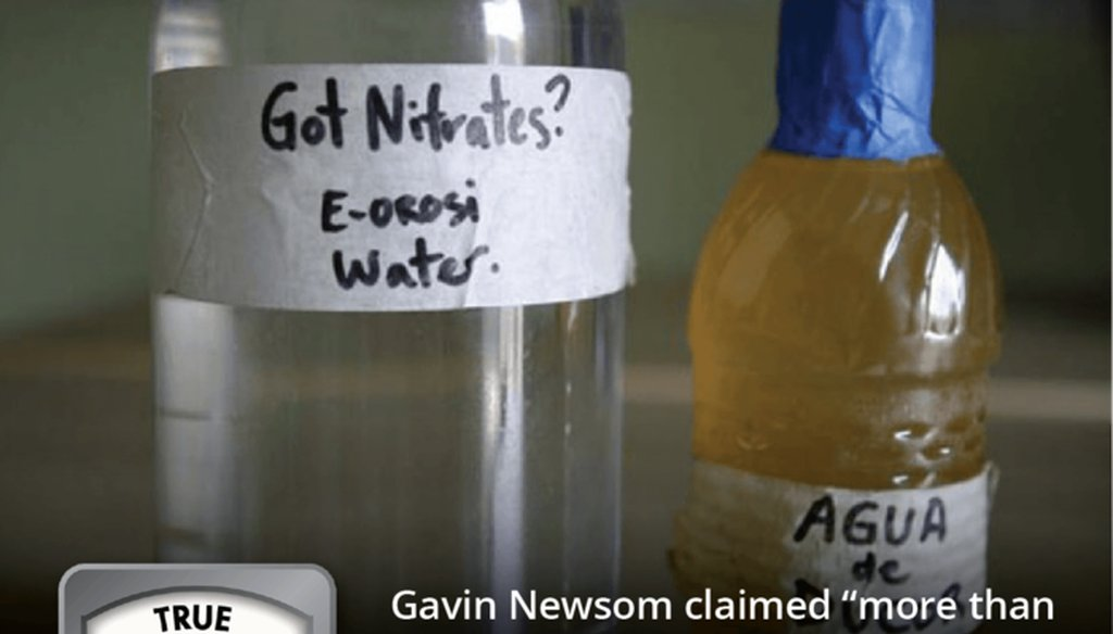California Gov. Gavin Newsom has made ensuring clean drinking water a top priority early in his term in office. Graphic by PolitiFact California