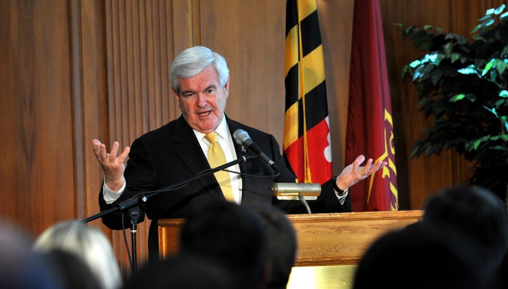 In this Associated Press photo, GOP presidential candidate Newt Gingrich campaigns in Maryland. The Wisconsin primary is Tuesday.