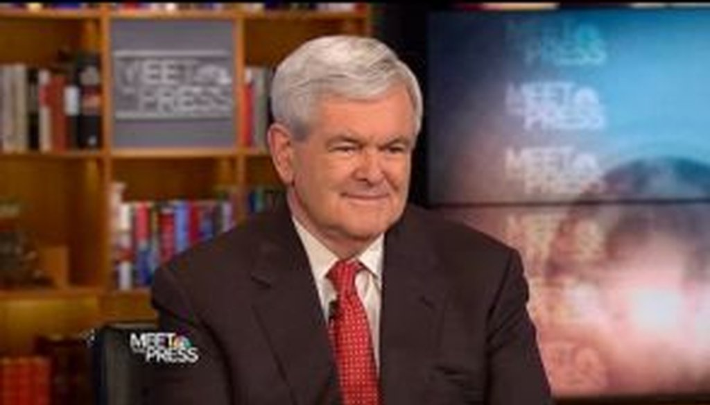 Fresh off his official announcement that he'd be running for president, Newt Gingrich sat for an interview with NBC's Meet the Press on May 15, 2011. We checked his facts.