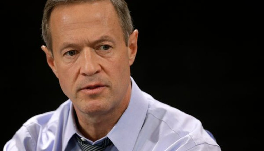 Outgoing Maryland Gov. Martin O'Malley speaks with reporters during a roundtable on Jan. 16, 2015.