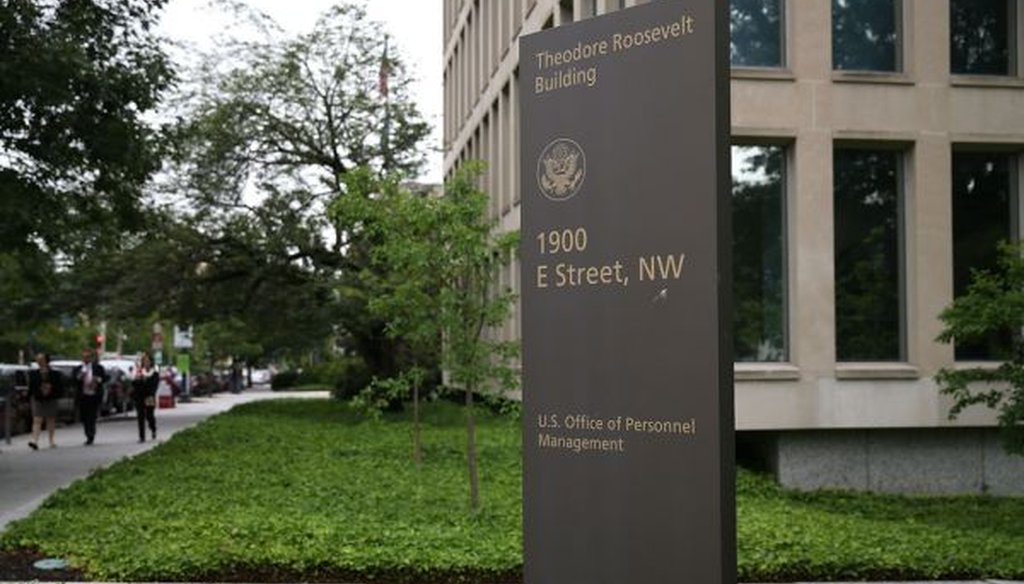 The Office of Personnel Management headquarters on June 5, 2015. U.S. investigators have said that at least 4 million current and former federal employees might have had their personal information stolen by Chinese hackers. (Mark Wilson/Getty Images)