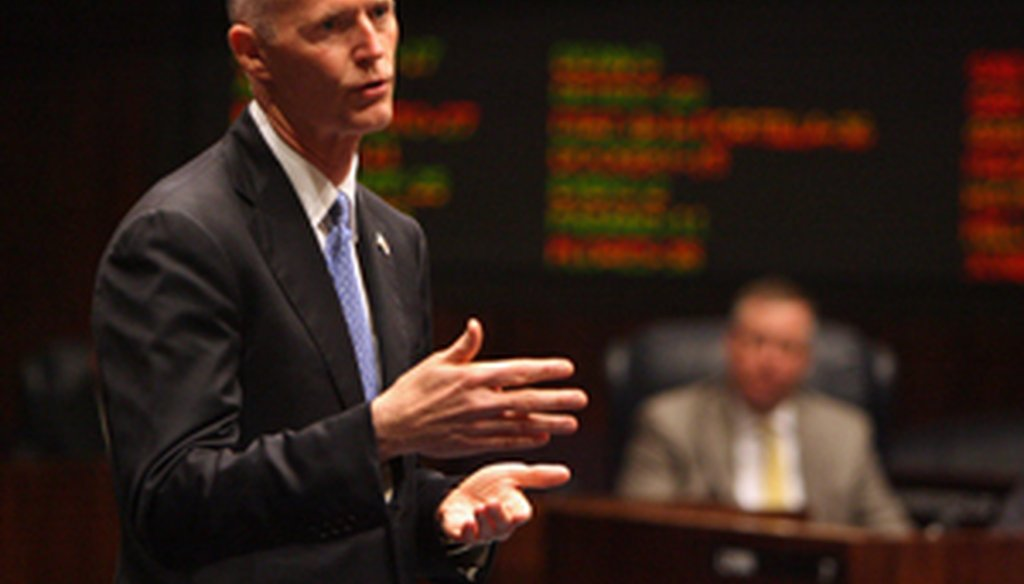 Gov. Rick Scott will give his first State of the State speech on March 8, 2011.