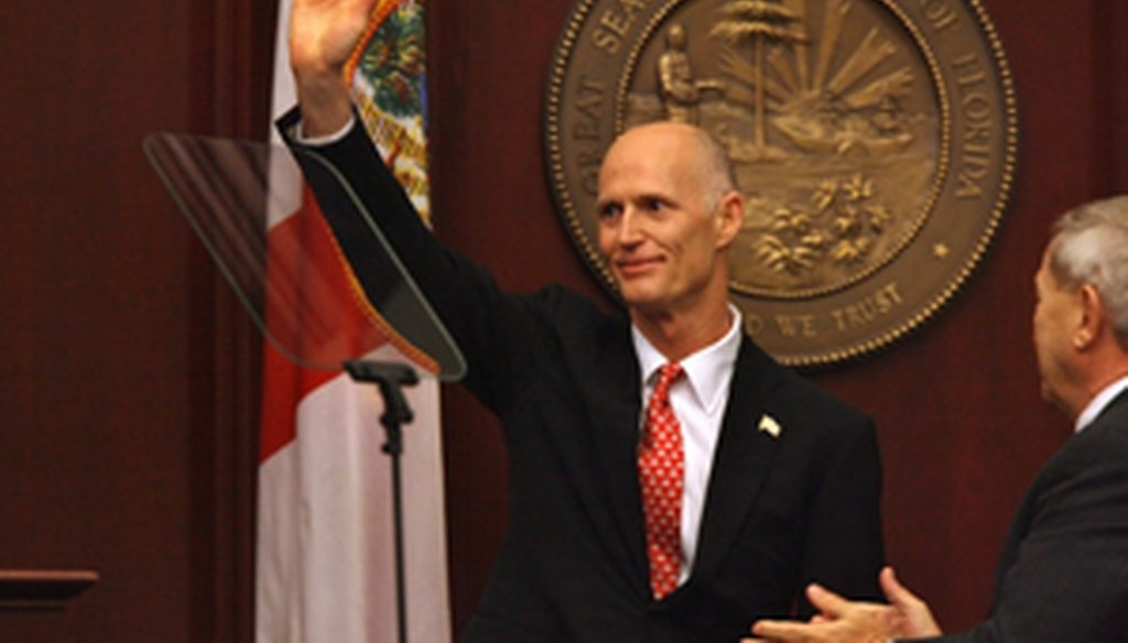 Gov. Rick Scott delivers his first State of the State speech.