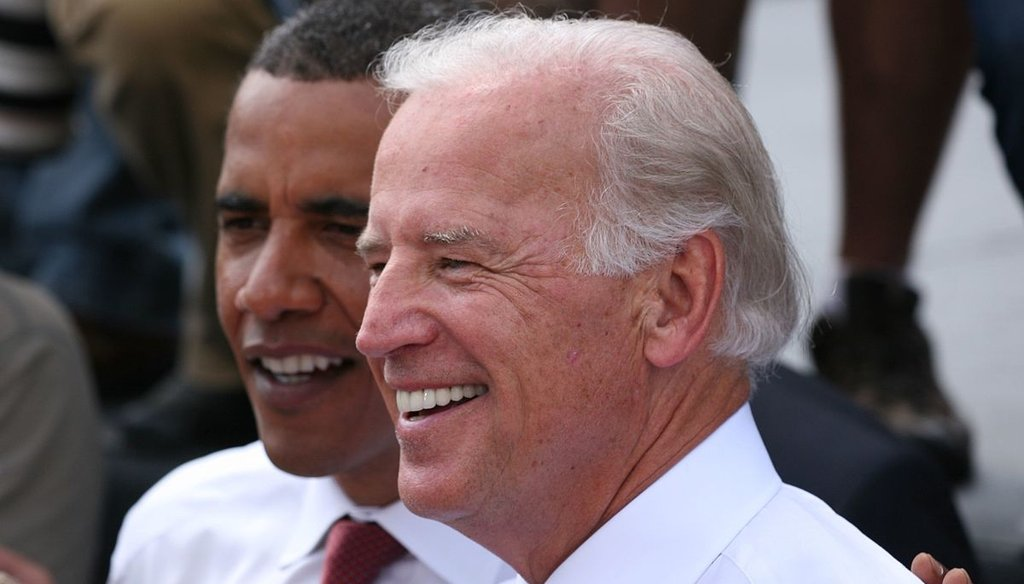 Barack Obama and Joe Biden in 2008. (Wikimedia Commons)