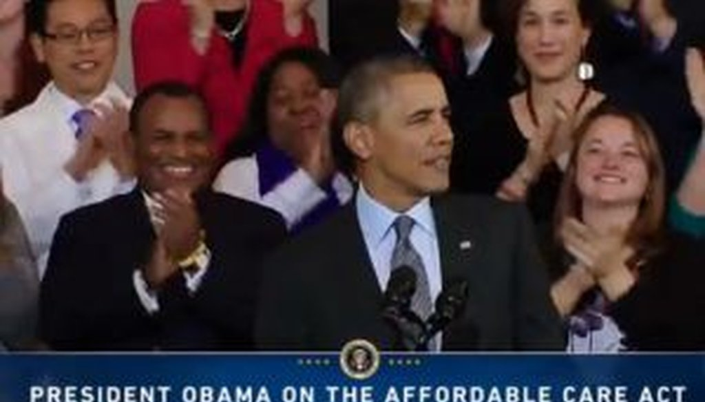 President Barack Obama gave a speech in Boston on the health care law on Oct. 30, 2013. We checked one of his claims.