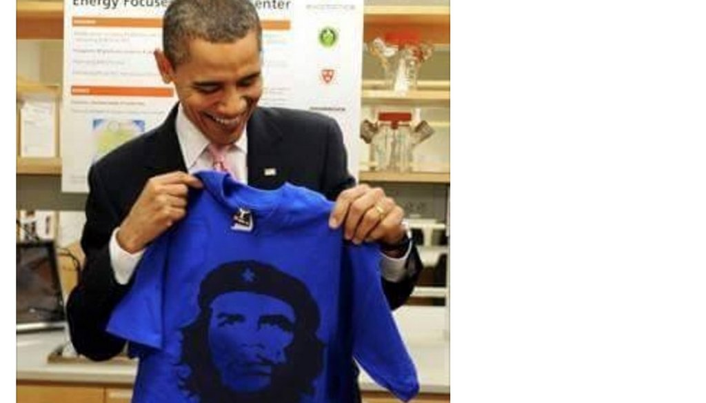 Sid Miller posted this doctored image of President Barack Obama on Facebook to chide Obama for his trip to Cuba.