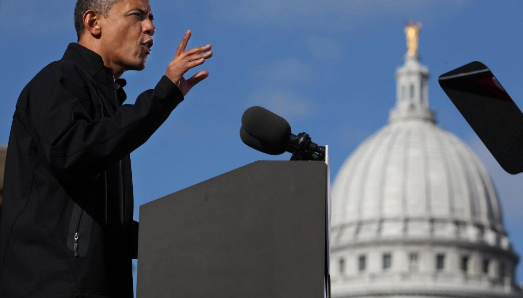 President Barack Obama campaigned in Madison on Nov. 5, 2012, the day before the 2012 presidential election. (Rick Wood photo)