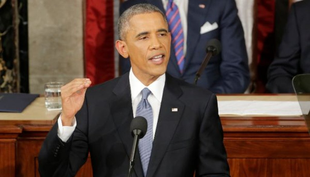 President Barack Obama gave the State of the Union address on Jan. 20, 2015.