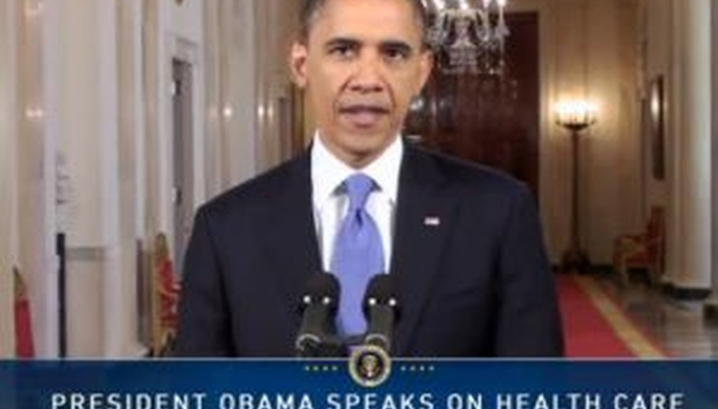 President Barack Obama spoke from the White House after the Supreme Court delivered its ruling that upheld his signature health care law.