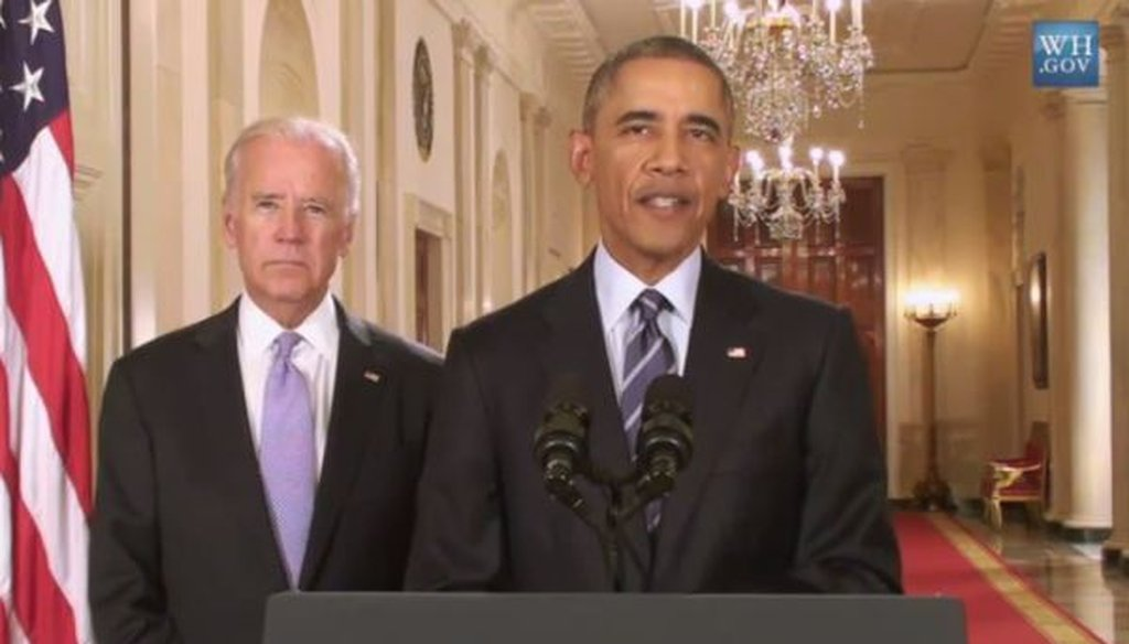 President Barack Obama and Vice President Joe Biden announce a nuclear agreement with Iran on July 14, 2015.