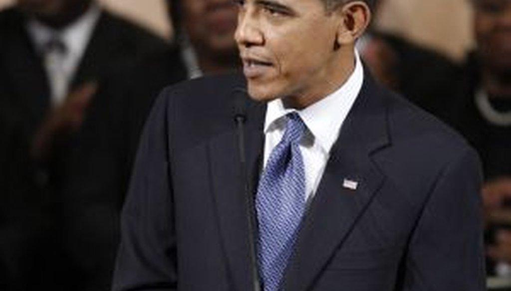 President Obama at a Washington church
