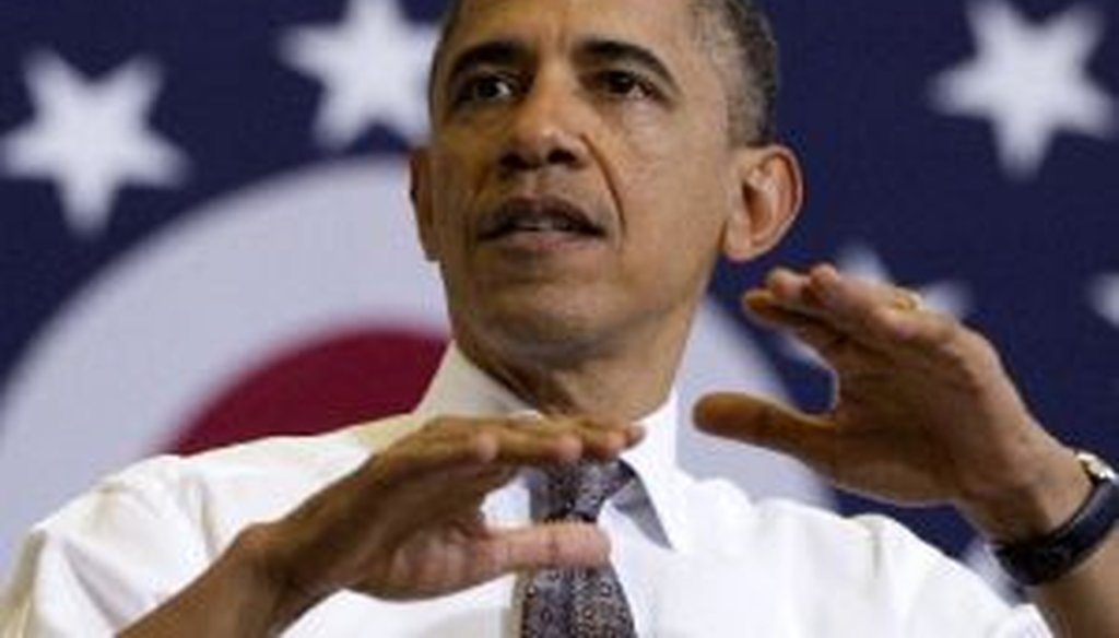 President Barack Obama speaks at Lorain County Community College in Elyria, Ohio.