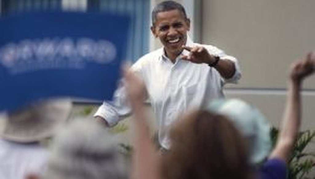President Barack Obama addresses a rally at St. Petersburg College's Seminole Campus on Sept. 8, 2012.